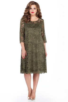 Платье TEZA 249 зеленые тона фото