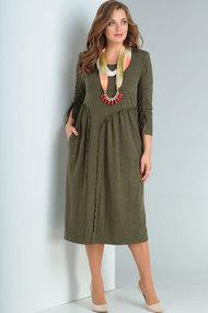 Платье Ришелье 746 хаки