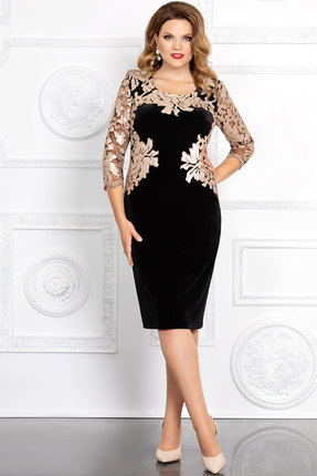 Платье Mira Fashion 4361-4 чёрный+золото
