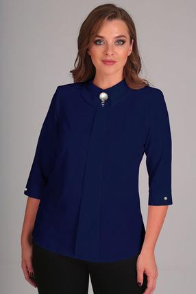 Блузка Таир-Гранд 62196-1 темно синий
