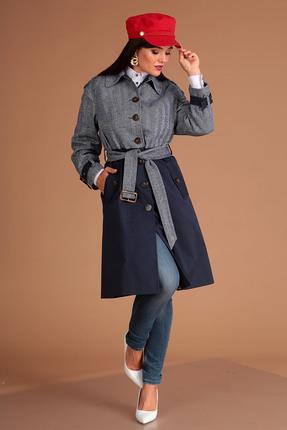 Пальто Мода-Юрс 2502 синий
