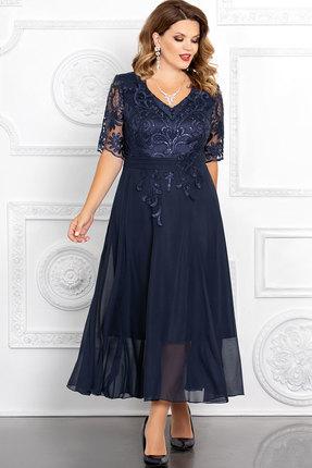 Платье Mira Fashion 4653-2 тёмно-синий
