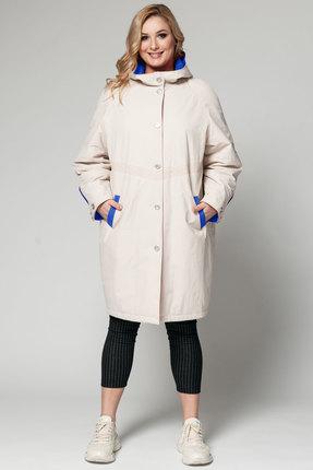 Пальто Bugalux 412а молочный с синим