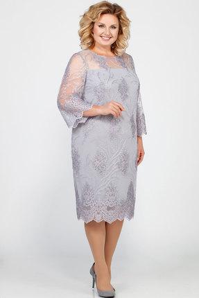Платье LaKona 969-1 серебро