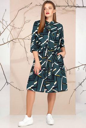 Платье Ivelta plus 1651 темно-зеленый фото