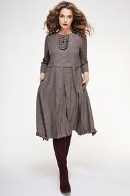 Платье Магия Моды 1428 коричневые тона