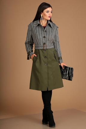 Пальто Мода-Юрс 2502 зеленый