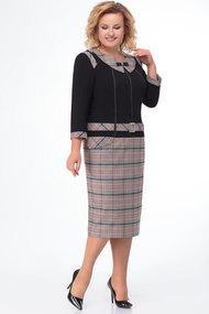 Платье БелЭкспози 726 серые  тона с черным