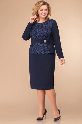 Платье Svetlana Style 1275 синий с белым
