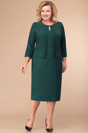 Платье Линия-Л Б-1758 изумрудный