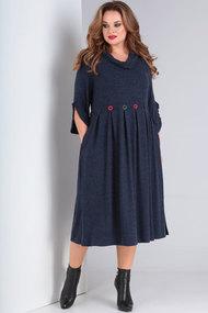 Платье Ришелье 694.4 тёмно-синий