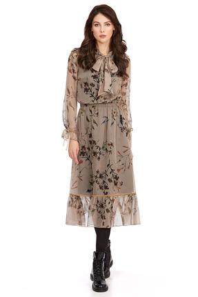 Платье PIRS 796 бежевые тона