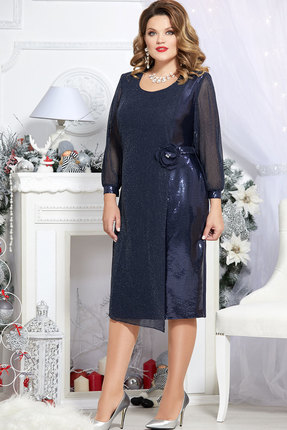 Платье Mira Fashion 4702 тёмно-синий