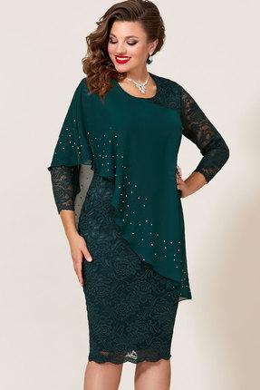 Платье Vittoria Queen 9073/6 изумрудный