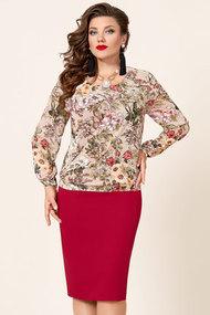 Платье Vittoria Queen 9783/1 красный с цветами