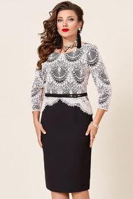 Платье Vittoria Queen 9933 черный с белым