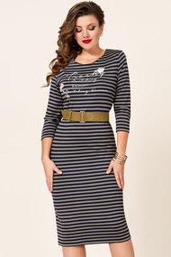 Платье Vittoria Queen 10353 хаки с чернильным