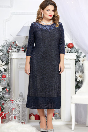 Платье Mira Fashion 4730 тёмно-синий