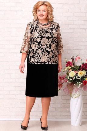 Платье Aira Style 715 черный с золотым