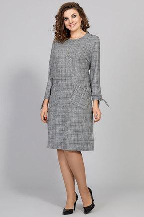 Платье Olga Style с577 серый