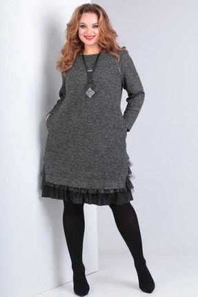 Платье Andrea Style 00233 серый фото