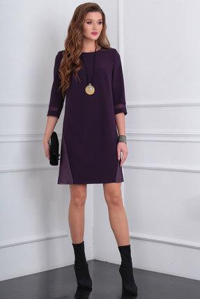 Платье Viola Style 0890 фиолетовые тона