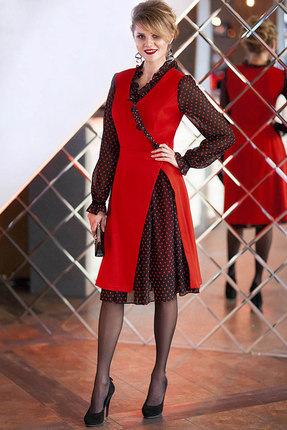 Платье Euromoda 246/2 красный