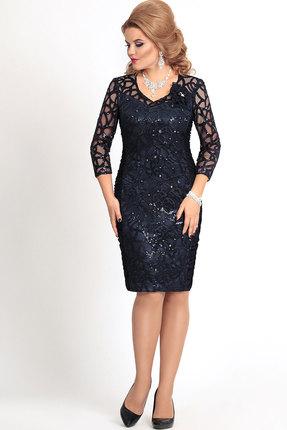 Платье Mira Fashion 4135 тёмно-синий