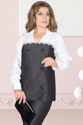 Блузка Needle Ревертекс 417 серый с белым