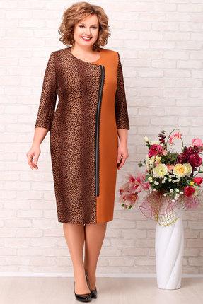 Платье Aira Style 713 коричневый