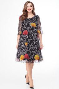 Платье Дали 4295 черный с цветным