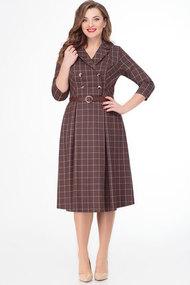 Платье Дали 3033 коричневые тона