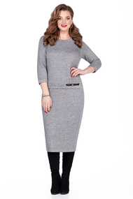 Платье TEZA 115 светло-серый