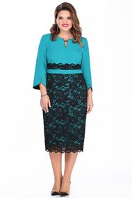 Платье TEZA 116 бирюзовый