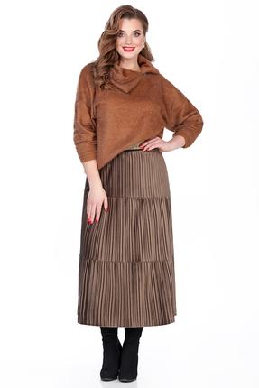 Комплект юбочный TEZA 282 коричневый фото