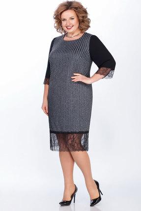 Платье LaKona 1265 серебро с черным
