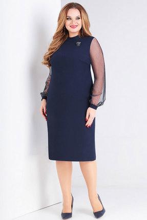 Платье Милора-Стиль 766 синий