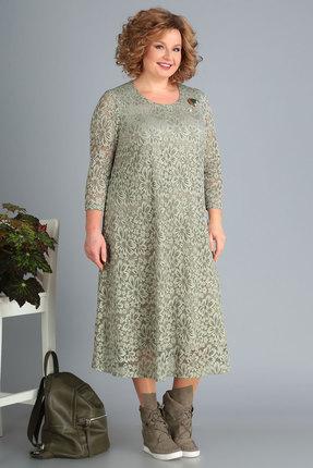 Платье Algranda 3378 олива фото