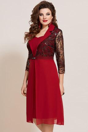 Платье Vittoria Queen 10703 бордовый