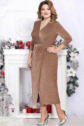Платье Mira Fashion 4745 золото фото