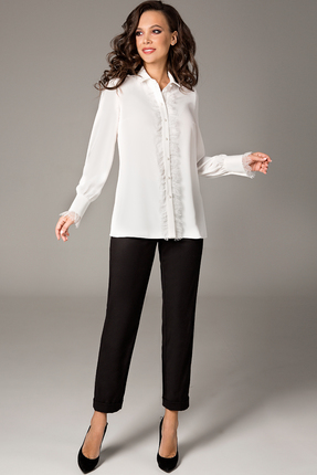 Блузка Teffi style 1472 молочный фото