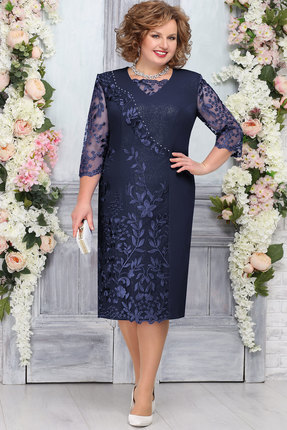 Платье Ninele 7269 тёмно-синий