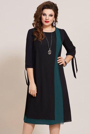Платье Vittoria Queen 10693 черный с изумрудным