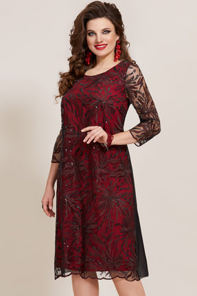 Платье Vittoria Queen 10763 черный с красным