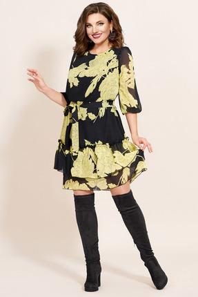 Платье Мублиз 426 черный с желтым