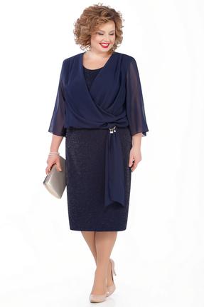 Платье Pretty 989 темно-синий