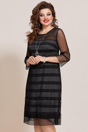 Платье Vittoria Queen 10683 черный с серым