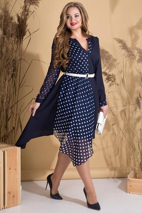 Платье Лилиана 804 темно-синий фото