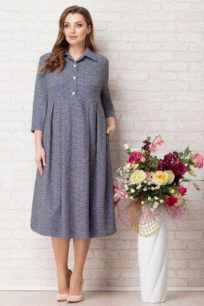 Платье Aira Style 733 синий