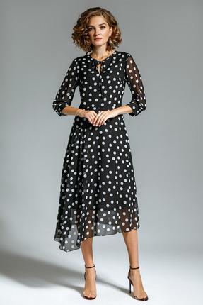 Платье Gizart 7207-2 черный в горох